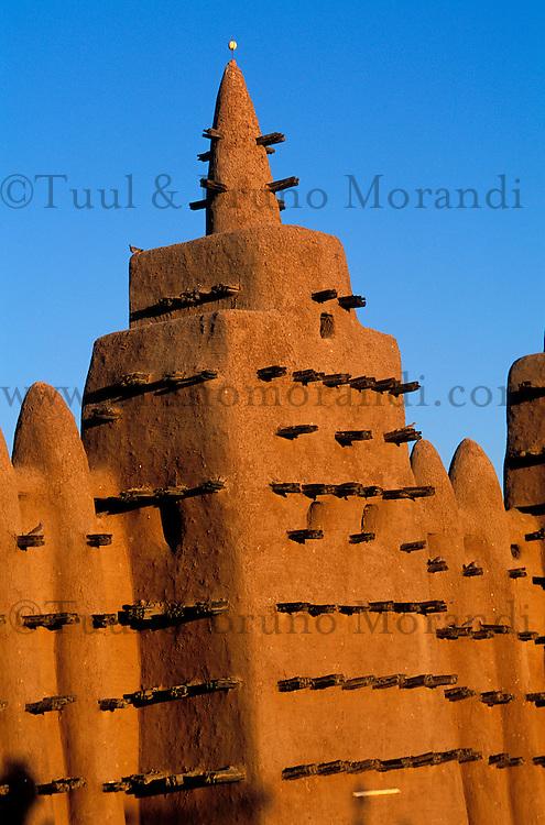 Mali, Djenné, Patrimoine mondial de l'UNESCO, Grande mosquée, plus grande mosquée en terre du monde// Mali, Djenne, Unesco World Heritage, the biggest mud mosque of the world