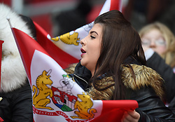 Spectator at the Sky Bet Championship match between Bristol City and Middlesbrough at Ashton Gate Stadium on 16 January 2016 in Bristol, England - Mandatory by-line: Paul Knight/JMP - Mobile: 07966 386802 - 16/01/2016 -  FOOTBALL - Ashton Gate Stadium - Bristol, England -  Bristol City v Middlesbrough - Sky Bet Championship