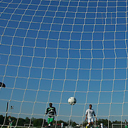 Wilmington University Keeper Chad Jenkins (00) attempts a save during a NCAA regular season match against Goldey-Beacom Wednesday, Sept. 12, 2012. at Kirkwood Soccer Complex...Special to Monsterphoto/SAQUAN STIMPSON