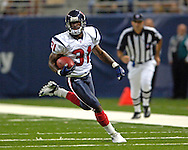 Houston's Phillip Buchanon on a punt return against St. Louis at the Edward Jones Dome in St. Louis, Missouri, August 19, 2006.  The Texans beat the Rams 27-20.