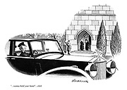 "(Beatles song plays on a car radio of a hearse) ""...wanna hold your hand""...click"