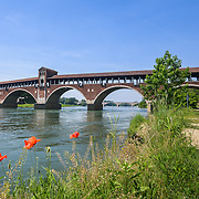 Bridge over Ticino river in Pavia - Italy