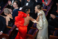 Hannah Beachler stands to accept the Oscar® for achievement in production design during the live ABC Telecast of The 91st Oscars® at the Dolby® Theatre in Hollywood, CA on Sunday, February 24, 2019.