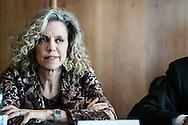 Potenza, Basilicata, Italia, 19/05/2016.<br /> La senatrice Monica Cirinn&agrave; promotrice del disegno di legge sulle unioni civili <br /> <br /> Potenza, Basilicata, Italy, 19/05/2016<br /> Senator Monica Cirinn&agrave; promoter of the law on civil unions