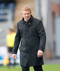 Falkirk's manager Gary Holt.<br /> Falkirk 2 v 0 Dundee, Scottish Championship game at The Falkirk Stadium.<br /> &copy; Michael Schofield.