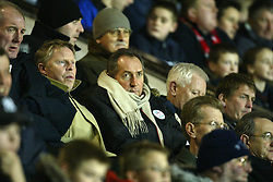 SOUTHPORT, ENGLAND - Tuesday, January 13, 2004: Liverpool's manager Gerard Houllier and assistant Sammy Lee watch during the 'mini-Derby' Premier League reserve match against Everton at Haige Avenue. (Pic by David Rawcliffe/Propaganda)