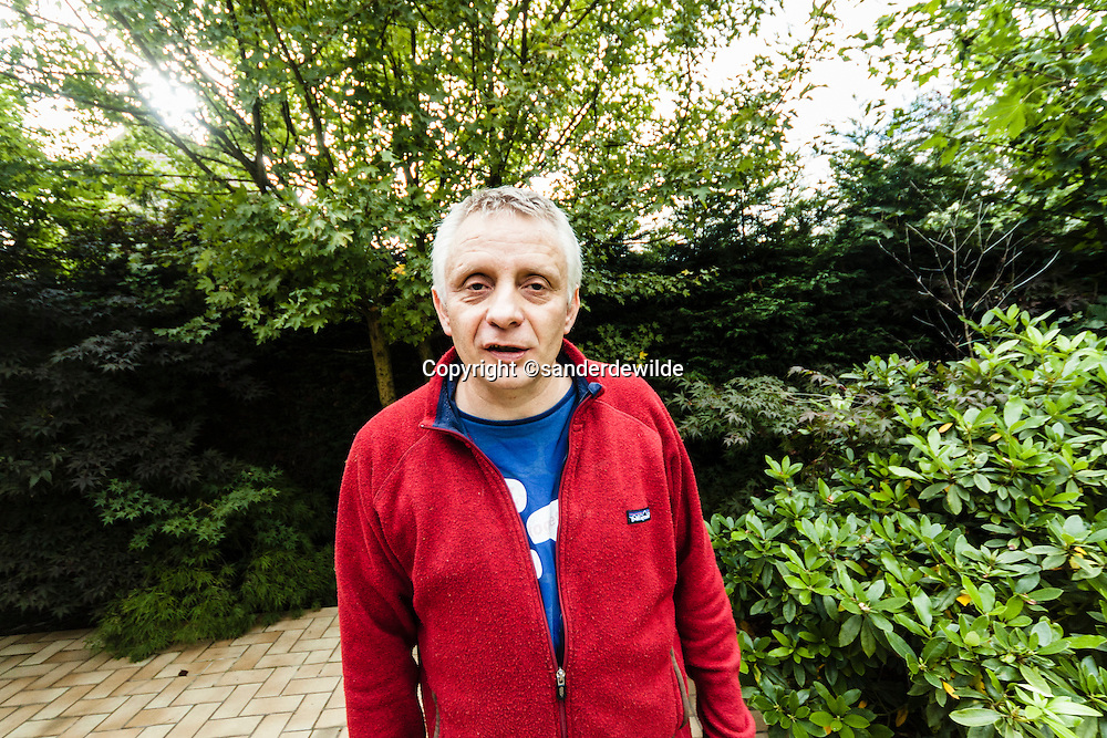 Vincent Rousseau was the first winner of the Four mile of Groningen (Netherlands) Vincent is from Belgium and was photographed in his garden in Jubise, Wallony.
