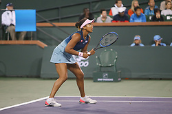 March 9, 2019 - Indian Wells, CA, U.S. - INDIAN WELLS, CA - MARCH 09: Naomi Osaka (JPN) waits to receive serve during the BNP Paribas Open on March 9, 2019 at Indian Wells Tennis Garden in Indian Wells, CA. (Photo by George Walker/Icon Sportswire) (Credit Image: © George Walker/Icon SMI via ZUMA Press)