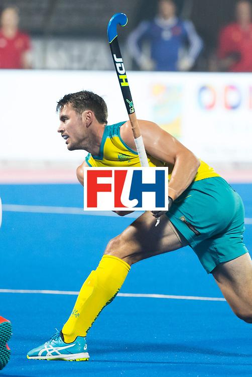 BHUBANESWAR - The Odisha Men's Hockey World League Final . Match ID 09 .  Australia v England  .Jeremy Hayward (Aus)    WORLDSPORTPICS COPYRIGHT  KOEN SUYK