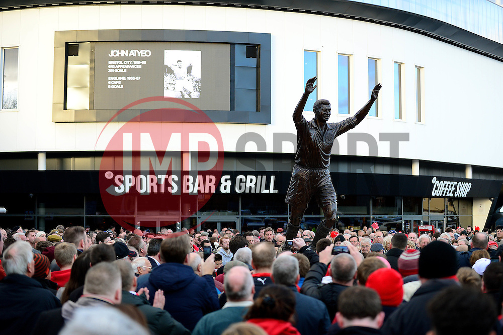 John Atyeo Statue unveiling at Ashton Gate Stadium - Mandatory by-line: Dougie Allward/JMP - 05/11/2016 - FOOTBALL - Ashton Gate - Bristol, England - Bristol City v Brighton and Hove Albion - Sky Bet Championship