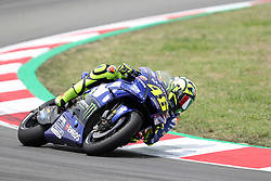 June 17, 2018 - Montmelo, Catalunya, Spain - Valentino ROSSI of Italy and Movistar Yamaha MotoGp competes during Gran Premi Monster Energy de Catalunya (Grand Prix of Catalunya), MotoGP race, on June 17, 2018 at the Catalunya racetrack in Montmelo, near Barcelona, Spain (Credit Image: © Manuel Blondeau via ZUMA Wire)