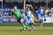 Scunthorpe United Murray Wallace (5) on the ball during the EFL Sky Bet League 1 match between Bristol Rovers and Scunthorpe United at the Memorial Stadium, Bristol, England on 24 February 2018. Picture by Gary Learmonth.