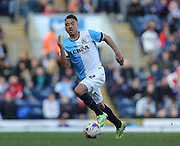Adam Henley, Blackburn Rovers defender during the Sky Bet Championship match between Blackburn Rovers and Brighton and Hove Albion at Ewood Park, Blackburn, England on 21 March 2015.