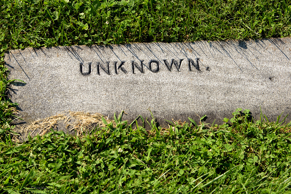 Grave of an unknown soldier, Gettysburg National Military Park, Pennsylvania, USA.