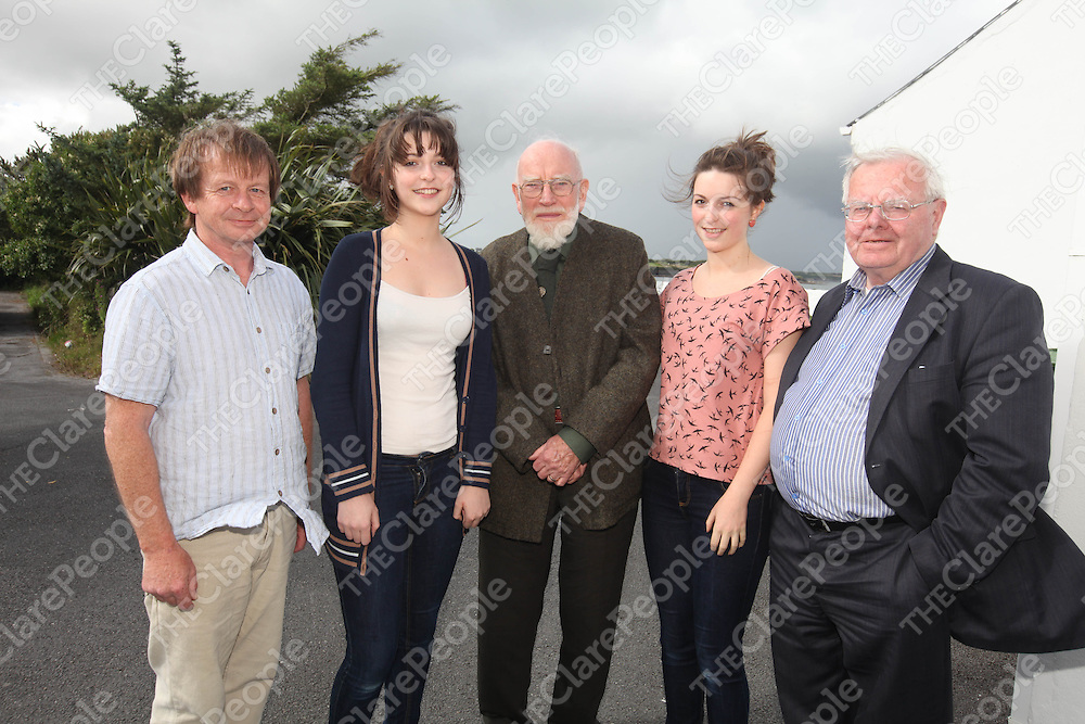 Macdara Tobin, AislingAston, Brendan O Madagain, and Katie Aston and Sean O Ceallaighpictured at the Carrigaholt Collages 100th Anniversary on Saturday.<br /> Pic. Brian Arthur/ Press 22.