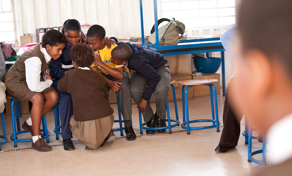 27 May 2009, Langa, Cape Town, South Africa. MAC Aids Fund SA Leadership fellow, Carmen Shadwell, runs a project  within two primary schools Siyabulela and Thembani, that addresses HIV risk behaviour in pre-adolescents in the transitional stage between primary and high school.