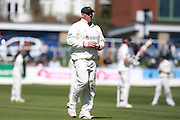 Leicestershire captain Mark Cosgrove during the Specsavers County Champ Div 2 match between Sussex County Cricket Club and Leicestershire County Cricket Club at the 1st Central County Ground, Hove, United Kingdom on 1 May 2016. Photo by Bennett Dean.