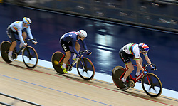Great Britain's Katie Archibald rides in the Women's Omnium tempo race during day one of the TISSOT UCI Track Cycling World Cup at the HSBC UK National Cycling Centre, Manchester.