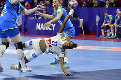 France player   Estelle NZE Minkoduring the Women's european handball chanmpionship preliminary round, Slovenia vs France. Nancy, Fance -02/12/2018//POLEMILE_01POL20181202NAN012/Credit:POL EMILE / SIPA/SIPA/1812021731