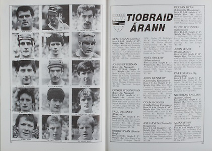 All Ireland Senior Hurling Championship Final, .04.09.1988. 09.04.1988, 4th September 1988,.4091988AISHCF,.Galway 1-15, Tipperary 0-14,.Galway v Tipperary, ..TIpperary, Ken Hogan, John Heffernan, Conor O'Donovan, Paul Delaney, Bobby Ryan, Noel Sheehy, John Kennedy, Colm Bonner, Joe Hayes, Declan Ryan, Donie O'Connell, John Leahy, Pat Fox, NIcholas English, Aidan Ryan,