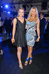 Left to right, CAMILLA KERSLAKE and HOFIT GOLAN at the Maserati Levante VIP Launch party held at the Royal Horticultural Halls, Vincent Square, London on 26th May 2016.