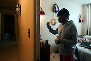 Shakisha, 27 years old, has been diagnosed with mold inside her body. Her house has infiltration problems in the bathroom and in the living room. Jackson Houses, Bronx, NY, 2012.