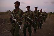 General Service Unit officers patrol the Tana Delta region.