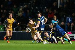 Andy Uren of Bristol Rugby gets away - Rogan Thomson/JMP - 04/11/2016 - RUGBY UNION - Sixways Stadium - Worcester, England - Worcester Warriors v Bristol Rugby - The Anglo Welsh Cup.