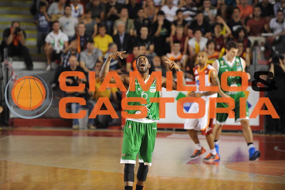 DESCRIZIONE : Roma Lega A 2012-2013 Acea Roma Montepaschi Siena playoff finale gara 1<br /> GIOCATORE : Bobby Brown<br /> CATEGORIA : esultanza<br /> SQUADRA : Acea Roma Montepaschi Siena<br /> EVENTO : Campionato Lega A 2012-2013 playoff finale gara 1<br /> GARA : Acea Roma Montepaschi Siena<br /> DATA : 11/06/2013<br /> SPORT : Pallacanestro <br /> AUTORE : Agenzia Ciamillo-Castoria/M.Marchi<br /> Galleria : Lega Basket A 2012-2013  <br /> Fotonotizia : Roma Lega A 2012-2013 Acea Roma Montepaschi Siena playoff finale gara 1<br /> Predefinita :