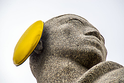 April 26, 2017 - SâO Paulo, São paulo, Brazil - SAO PAULO, BRAZIL - APRIL 26 : Monument to the Bandeiras is seen with yellow ear protectors on the 'International Noise Awareness Day' in Sao Paulo, Brazil on April 26, 2017. (Credit Image: © Cris Faga via ZUMA Wire)