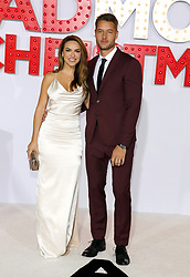 Chrishell Stause and Justin Hartley at the Los Angeles premiere of 'A Bad Moms Christmas' held at the Regency Village Theatre in Westwood, USA on October 30, 2017.