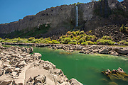 Scenic water, springs and rock formations along Snake River canyon near Twin Falls, Idaho. MR