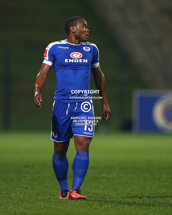 Thuso Phala of SuperSport United during the 2016 Premier Soccer League match between Supersport United and The Free Stat Stars held at the King Zwelithini Stadium in Durban, South Africa on the 24th September 2016<br /> <br /> Photo by:   Steve Haag / Real Time Images