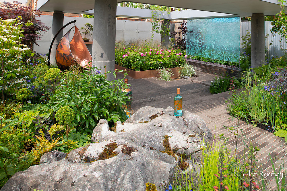 The Silent Pool Gin Garden, at the RHS Chelsea Flower Show 2019, London, UK