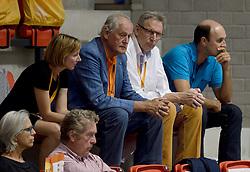 10-08-2014 NED: FIVB Grand Prix Belgie - Puerto Rico, Doetinchem<br /> Joelle Staps, Hans Nieukerke, Jaap Boon, Michel Everaert