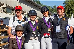 Belgische medaille winnars, Minneci Barbara, Claeys Manon, George Michel, Van Ham Kevin<br /> European Championship Para Dressage<br /> Rotterdam 2019<br /> © Hippo Foto - Dirk Caremans