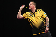 Dave Chisnall during the Grand Slam of Darts, at Aldersley Leisure Village, Wolverhampton, United Kingdom on 11 November 2019.