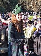 KATE Joins Royals At  Xmas Service, Sandringham