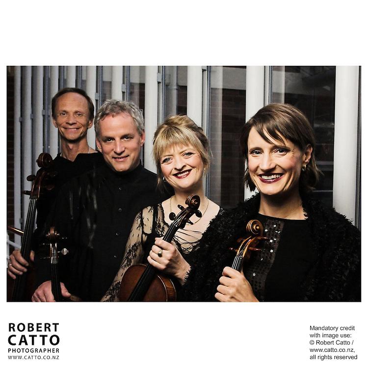 Rolf Gjelsten;Douglas Beilman;Gillian Ansell;Helene Pohl (New Zealand String Quartet)  at Victoria University, Wellington, New Zealand.