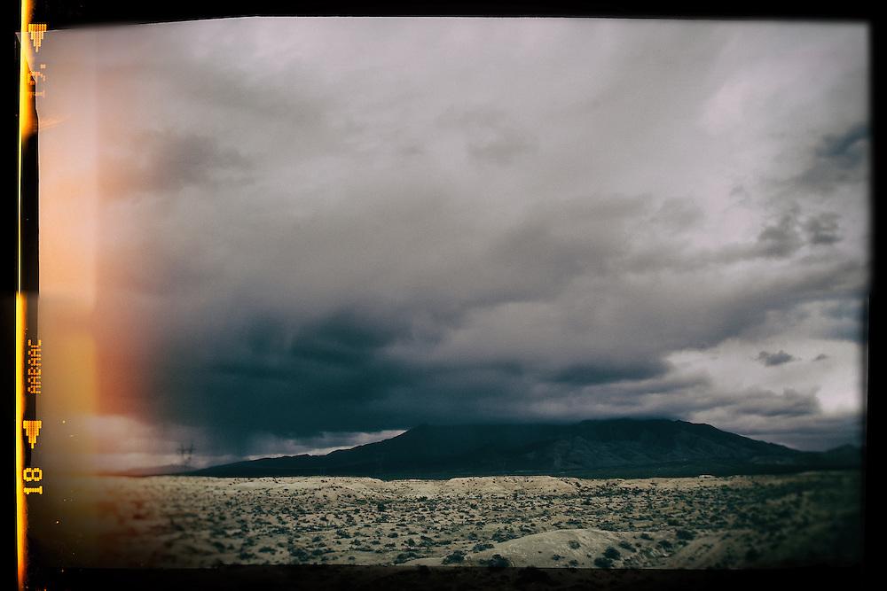 Mojave desert California.  View from I-15 North of Baker, CA.