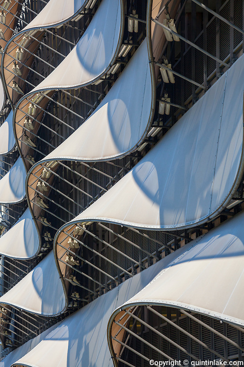 The Wave Car park, Cardiff Bay, Wales  Tensile fabric facade
