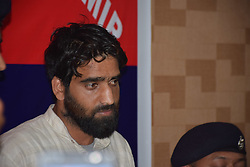 September 11, 2017 - Srinagar, Jammu & Kashmir, India - Addressing a joint press conference in Srinagar, Inspector General of Police Muneer Khan said officers who help in surrender of militants will be rewarded. Army, Jammu and Kashmir Police and Central Reserve Police Force (CRPF) on Monday made a joint surrender offer to militants operating in Kashmir. (Credit Image: © Nasir Khan/Pacific Press via ZUMA Wire)