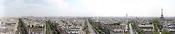 30.04.2011, Paris, Frankreich, FRA, Feature, Pariser Impression, im Bild Panorama vom Arc de Triomphe auf die Avenue des Champs Elysees und den Eifelturm ,EXPA Pictures © 2011, PhotoCredit: EXPA/ nph/  Straubmeier       ****** out of GER / SWE / CRO  / BEL ******