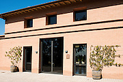 ITALY, Bolgheri (LI)<br /> The wine aging cellar and tasting room of Tenuta San Guido