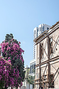 New and old in Allenby Street, Tel Aviv, Israel