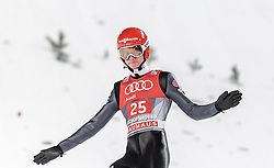 06.01.2016, Paul Ausserleitner Schanze, Bischofshofen, AUT, FIS Weltcup Ski Sprung, Vierschanzentournee, Bischofshofen, Finale, im Bild Karl Geiger (GER) // Karl Geiger of Germany reacts after his 1st round jump of the Four Hills Tournament of FIS Ski Jumping World Cup at the Paul Ausserleitner Schanze in Bischofshofen, Austria on 2016/01/06. EXPA Pictures © 2016, PhotoCredit: EXPA/ JFK