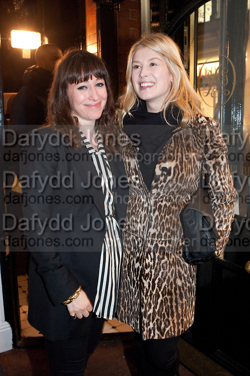 ROSAMUND PIKE; ANNIE MORRIS, There is a Land Called Loss | Annie Morris | Pertwee Andersen and Gold, in association with Adam Waymouth Art , Private View, 15 bateman st. W1 2nd February 2012