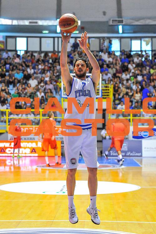 DESCRIZIONE : Cagliari Qualificazione Eurobasket 2015 Qualifying Round Eurobasket 2015 Italia Svizzera - Italy Switzerland<br /> GIOCATORE : Luca Vitali<br /> CATEGORIA : Tiro Riscaldamento<br /> EVENTO : Cagliari Qualificazione Eurobasket 2015 Qualifying Round Eurobasket 2015 Italia Svizzera - Italy Switzerland<br /> GARA : Italia Svizzera - Italy Switzerland<br /> DATA : 17/08/2014<br /> SPORT : Pallacanestro<br /> AUTORE : Agenzia Ciamillo-Castoria/ Luigi Canu<br /> Galleria: Fip Nazionali 2014<br /> Fotonotizia: Cagliari Qualificazione Eurobasket 2015 Qualifying Round Eurobasket 2015 Italia Svizzera - Italy Switzerland<br /> Predefinita :