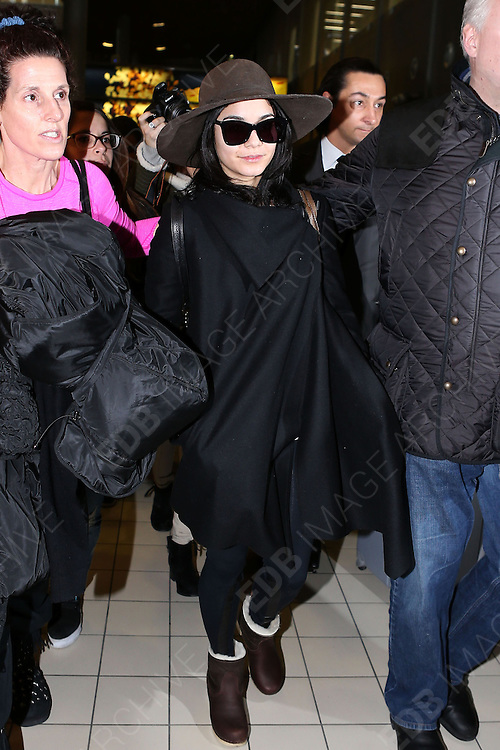 16.FEBRUARY.2013. PARIS<br /> <br /> VANESSA HUDGENS IS SPOTTED ARRIVING AT ROISSY-CHARLES DE GAULLE AIRPORT IN PARIS AFTER FLYING IN FROM LOS ANGELES.<br /> <br /> BYLINE: EDBIMAGEARCHIVE.CO.UK<br /> <br /> *THIS IMAGE IS STRICTLY FOR UK NEWSPAPERS AND MAGAZINES ONLY*<br /> *FOR WORLD WIDE SALES AND WEB USE PLEASE CONTACT EDBIMAGEARCHIVE - 0208 954 5968*