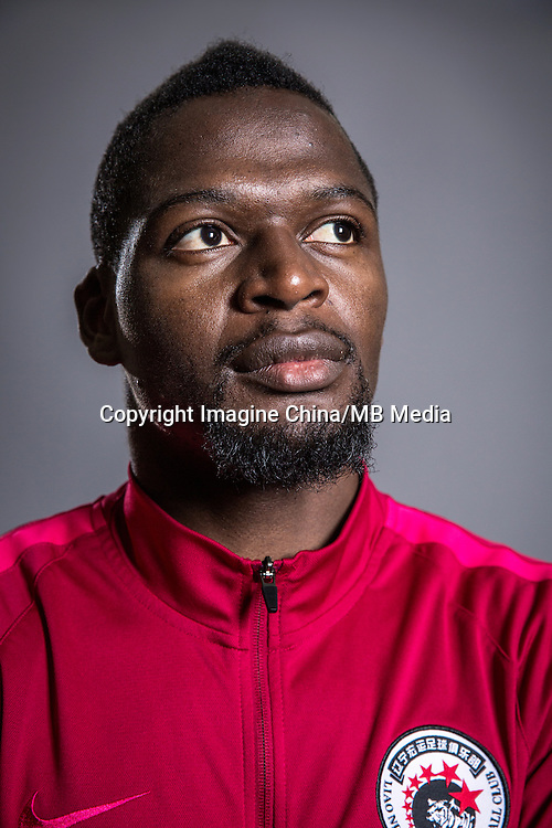 Portrait of Congolese soccer player Assani Lukimya-Mulongoti of Liaoning Whowin F.C. for the 2017 Chinese Football Association Super League, in Foshan city, south China's Guangdong province, 24 January 2017.